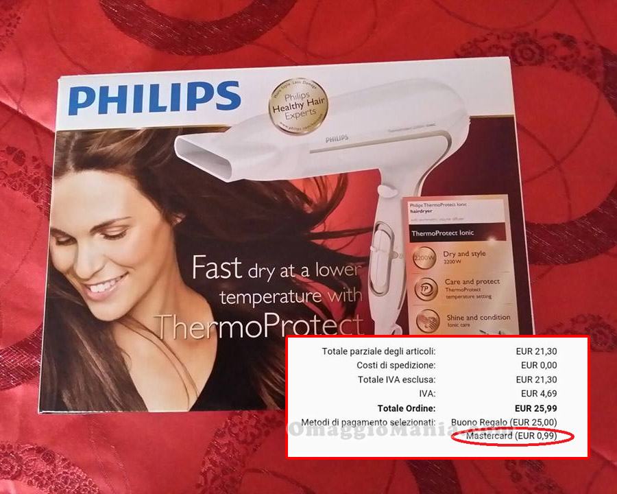 asciugacapelli Philips a 99 cent