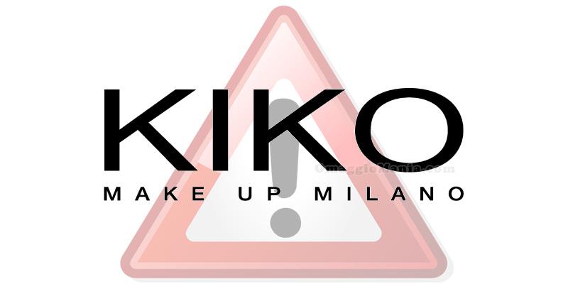attenzione Kiko Make Up Milano