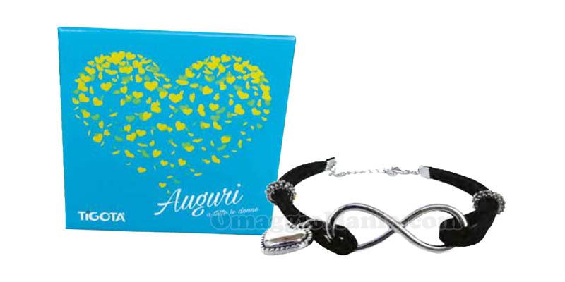 bracciale Infinity omaggio da Tigotà per la Festa della Donna