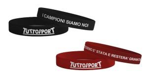 bracciali Juventus e Torino con Tuttosport
