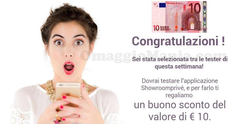 buoni Showroomprive 10 euro in arrivo