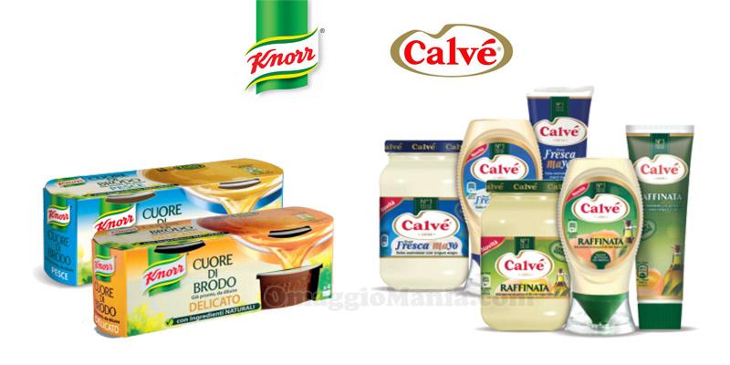 buoni sconto Knorr e Calvé