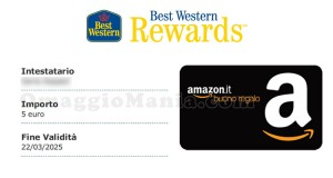 buono Amazon Best Western Rewards Maria