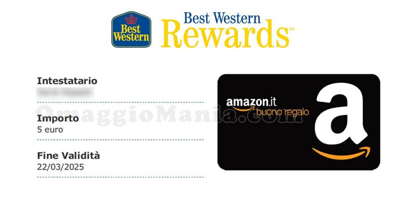buono Amazon Best Western Rewards Maria