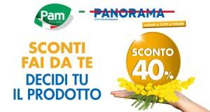 buono sconto Pam Panorama Festa della Donna 2016