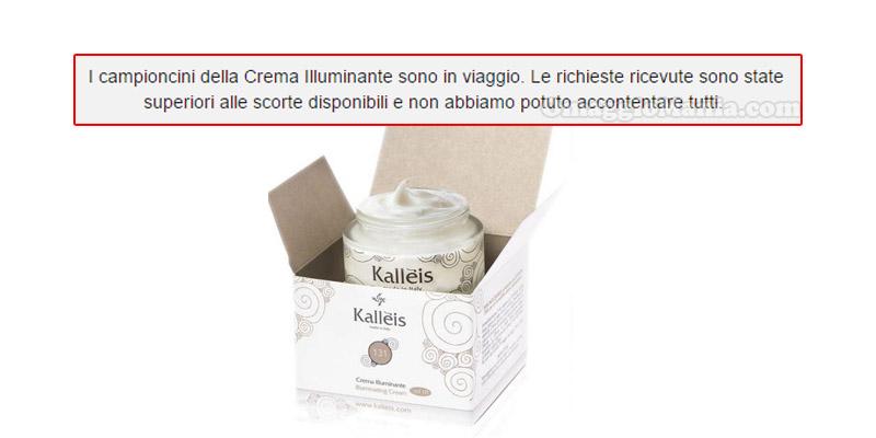 crema illuminante aggiornamento Kallèis