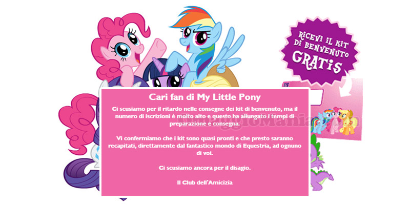 kit My Little Pony in arrivo