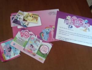 kit My Little Pony ricevuto da Alessandra