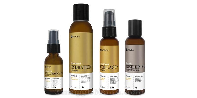 kit prodotti Biovea per la cura della pelle