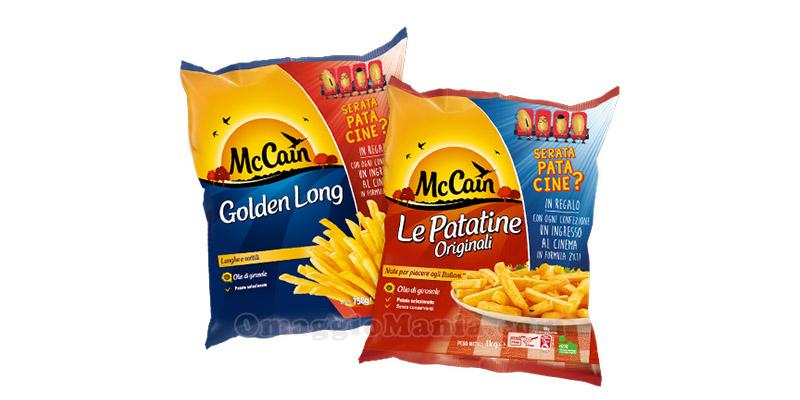 patatine McCain ingresso cinema 2x1