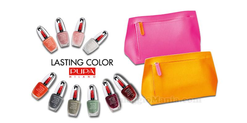 pochette e smalto Pupa Lasting Color con Grazia