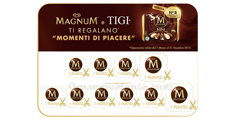raccolta punti Magnum e TIGI