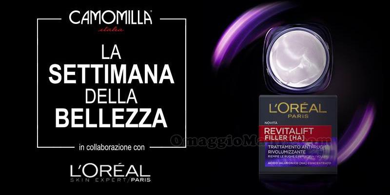 settimana della bellezza L'Oreal Camomilla