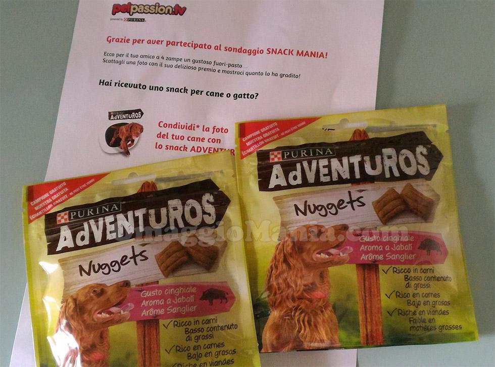 snack Adventuros Nuggets Purina di Tizi