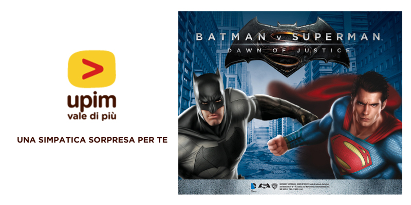 sorpresa Upim Batman V Superman