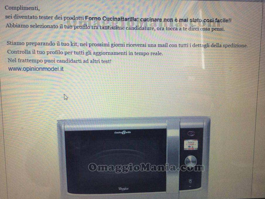 tester forno CucinaBarilla