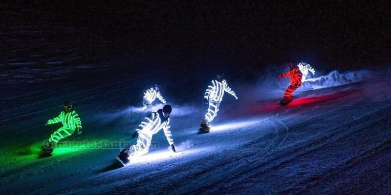 tuta luminosa nazionale di snowboard
