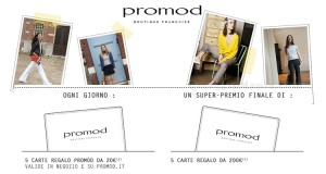 vinci carte regalo Promod