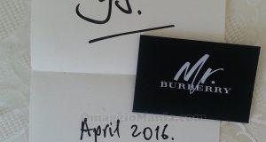 Cartolina profumata Mr.Burberry di Yulia