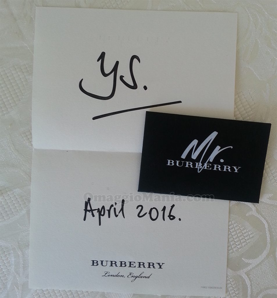 Cartolina profumata Mr.Burberry di Yulia