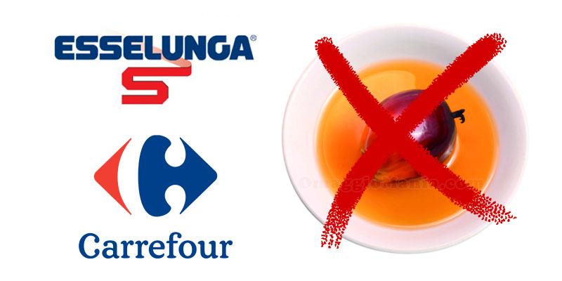 Esselunga Carrefour stop all'olio di palma