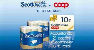 Scottonelle e Coop ti regalano buoni spesa da 10 euro