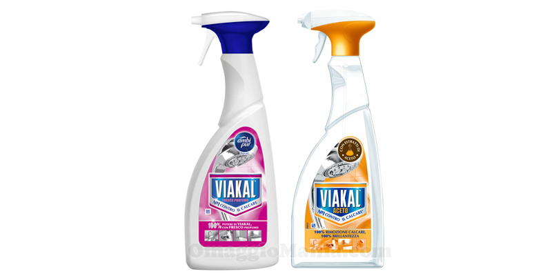 Viakal Spray Aceto e Fresco Profumo
