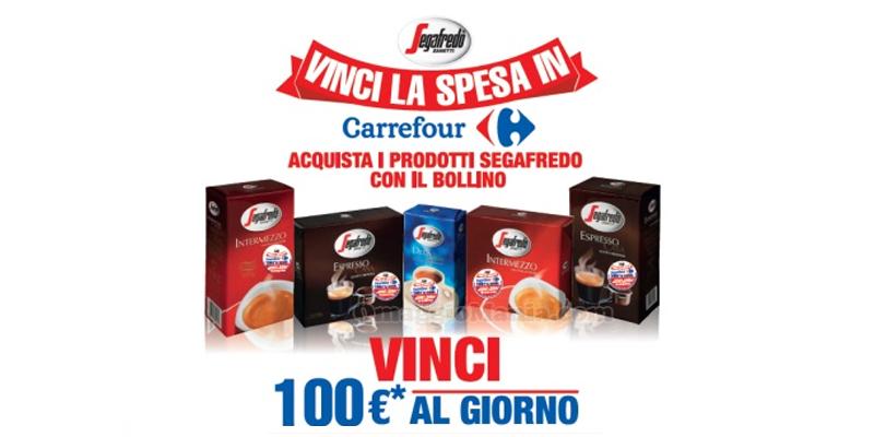 Vinci la spesa in Carrefour con Segafredo