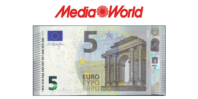 mediaworld ricevi 5 euro gratis senza spesa minima. Black Bedroom Furniture Sets. Home Design Ideas