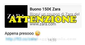 buono Zara 150 euro attenzione