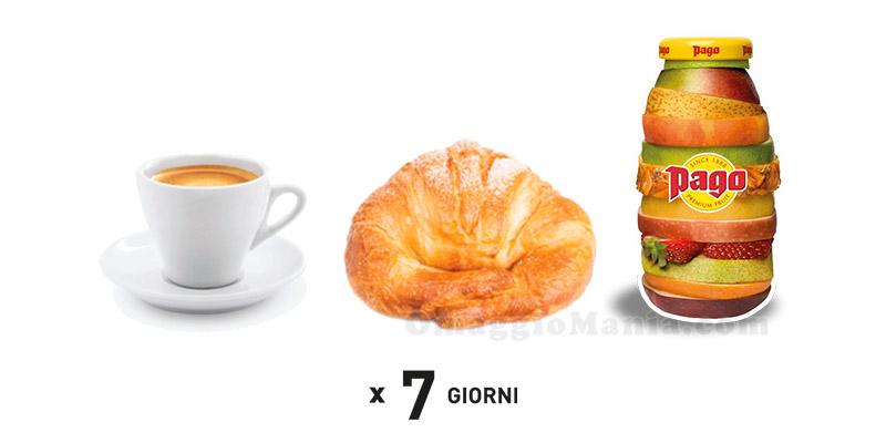 caffè brioche e Pago