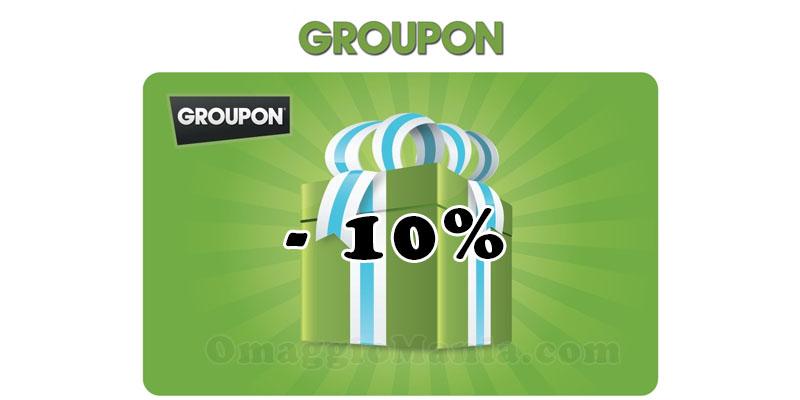 codice sconto Groupon 10%