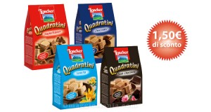 coupon del gusto Loacker Quadratini