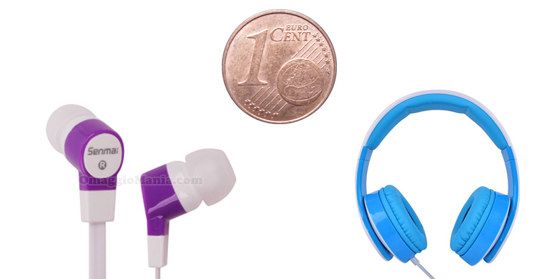 cuffie, auricolari e in-ear a 1 centesimo