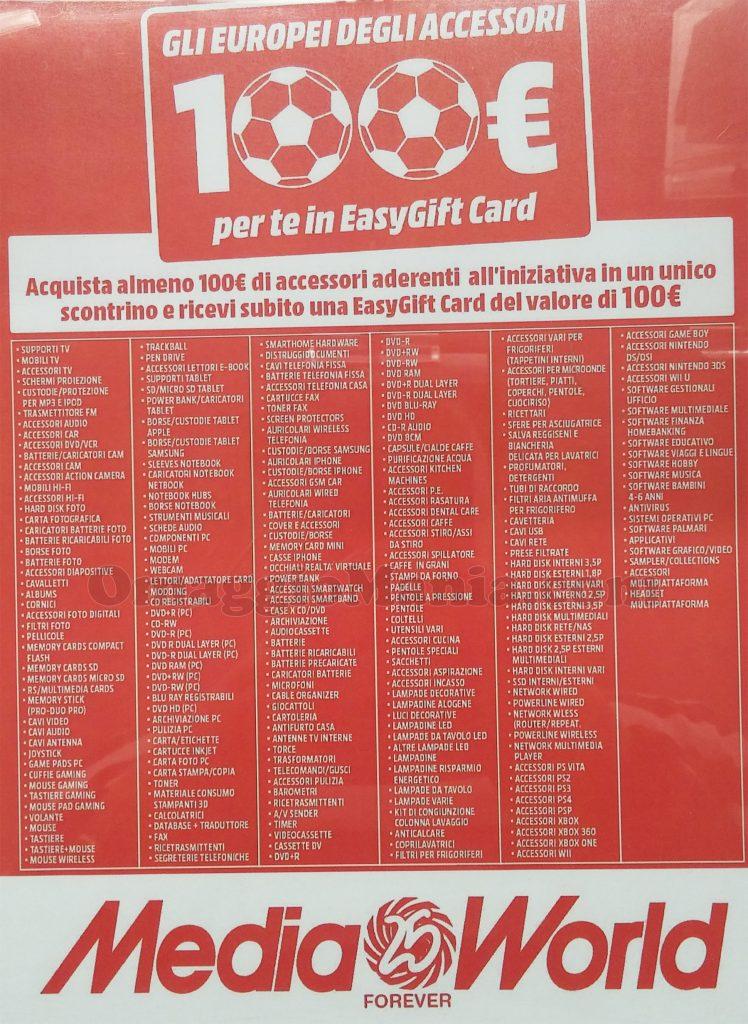 elenco prodotti MediaWorld Gli Europei degli Accessori