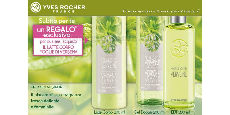 latte corpo foglie di Verbena omaggio Yves Rocher