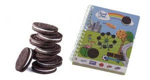 quaderno omaggio con biscotti Oreo