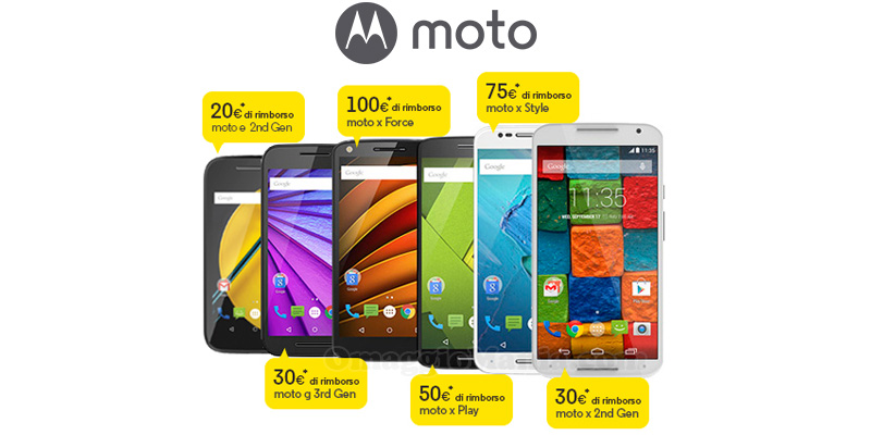 rimborso Moto Motorola
