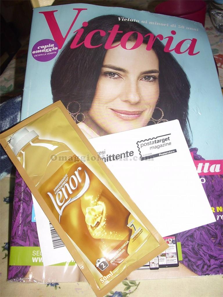 rivista Victoria e campione omaggio Lenor di Nadia
