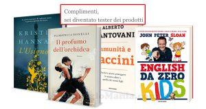 selezione test libri Mondadori Opinion Model