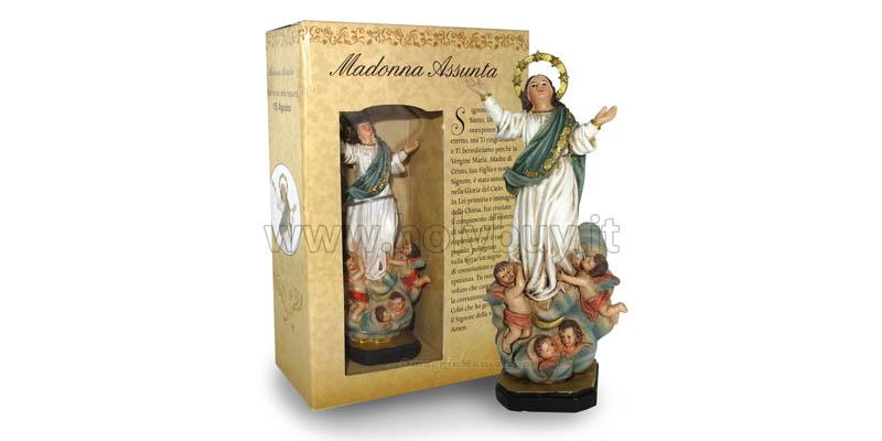statua Madonna Assunta con preghiera