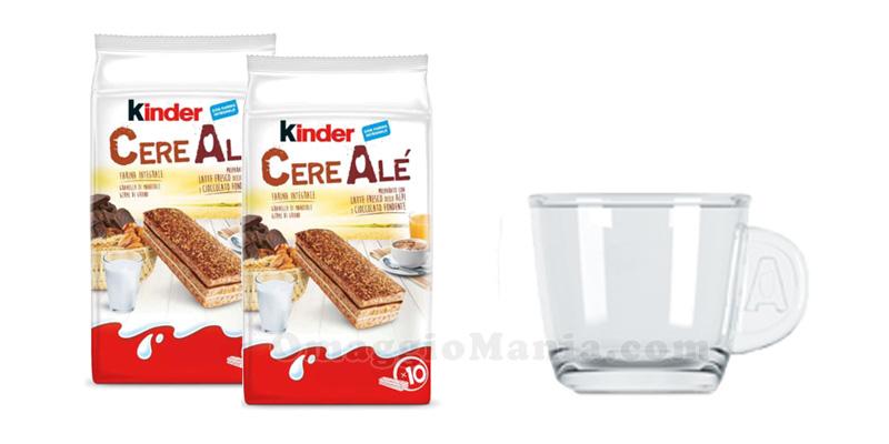 tazzina in vetro omaggio con Kinder CereAlé