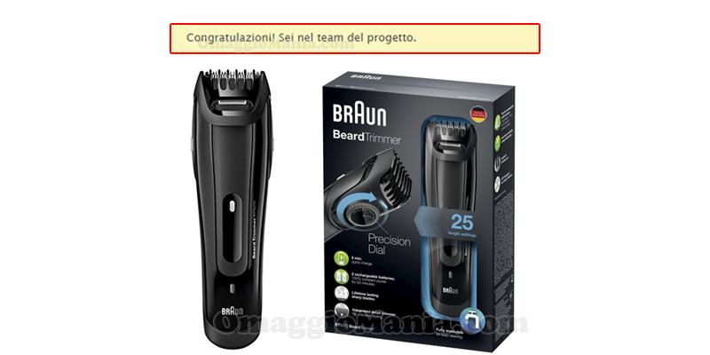tester Braun Beard Trimmer con Desideri Magazine
