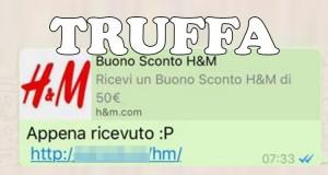 truffa buono sconto H&M Whatsapp
