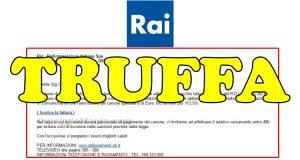 truffa canone RAI via email