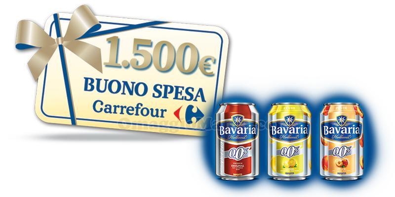 vinci 1.500 euro in buoni spesa con Bavaria e Carrefour