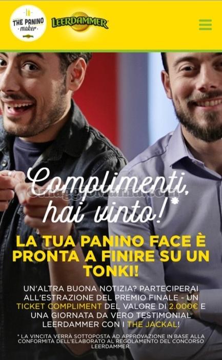 vincita Leerdammer Panino Face di Tatiana