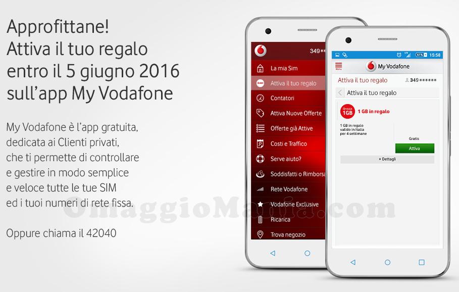 1 GB in regalo Vodafone