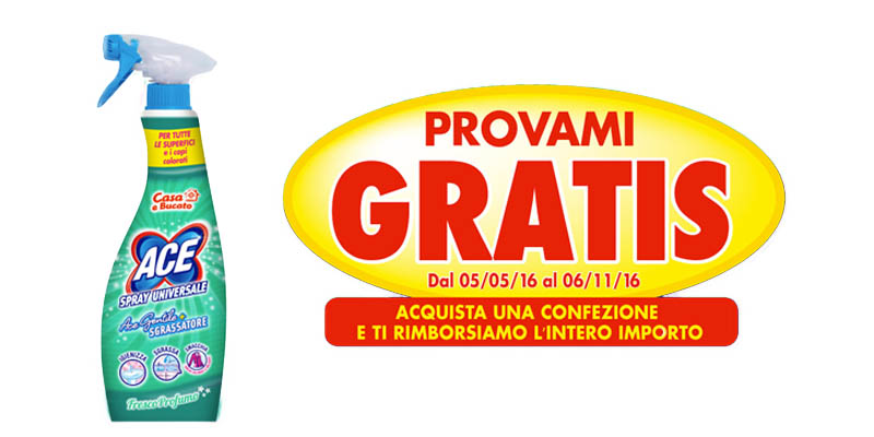 Ace Spray Universale gratis