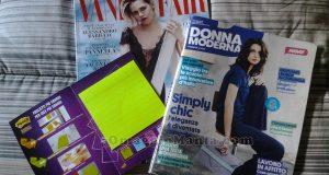 Donna Moderna e Vanity Fair con Post-it di Natty